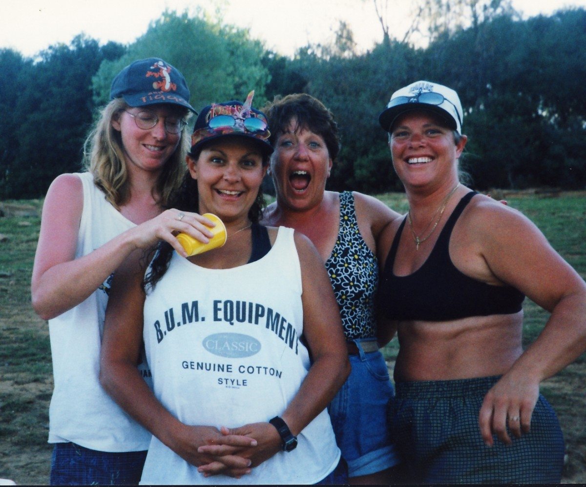 Starting at left; Deb, Chrissy, PV and Sue.     copy right 2004