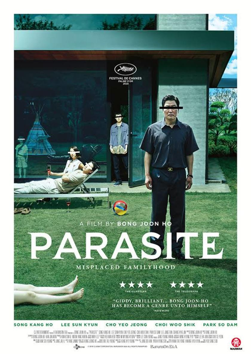 """Bong Joon-ho's sensational black comedy """"Parasite,"""" nominated in six categories, including best picture, at the upcoming Oscars, has been invited to 57 film festivals and award events across the world, and collected 55 trophies."""