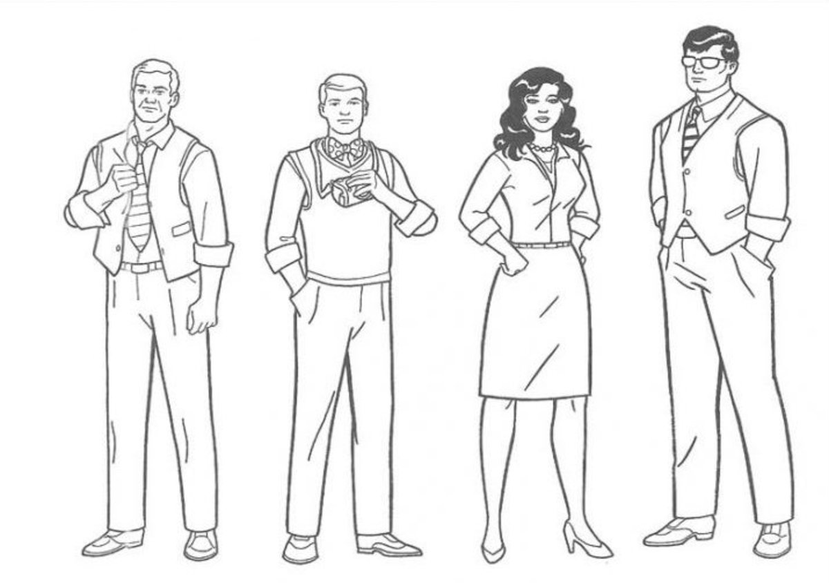 Superman Kids Coloring Pictures with Colouring Pages to Print