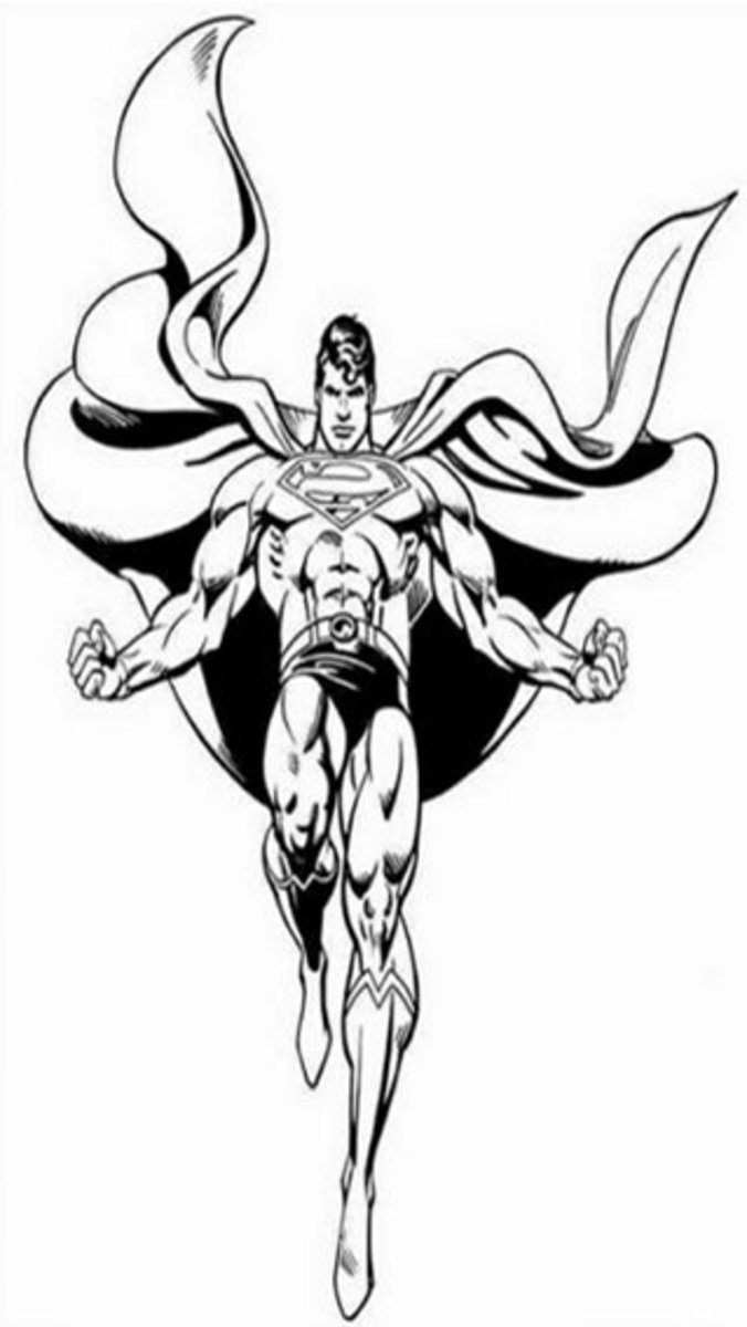 Superman Kids Coloring Pages with Colouring Pictures to Print