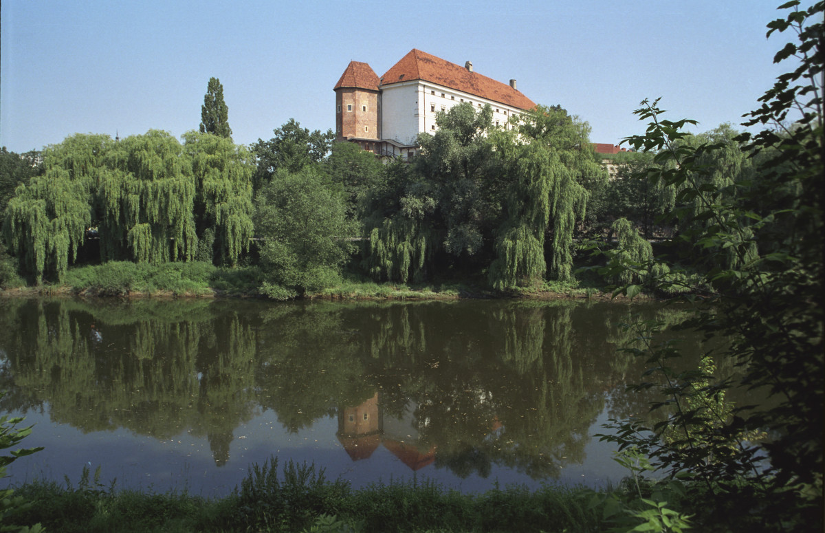 The Vistula River at Sandomierz Castle, Poland
