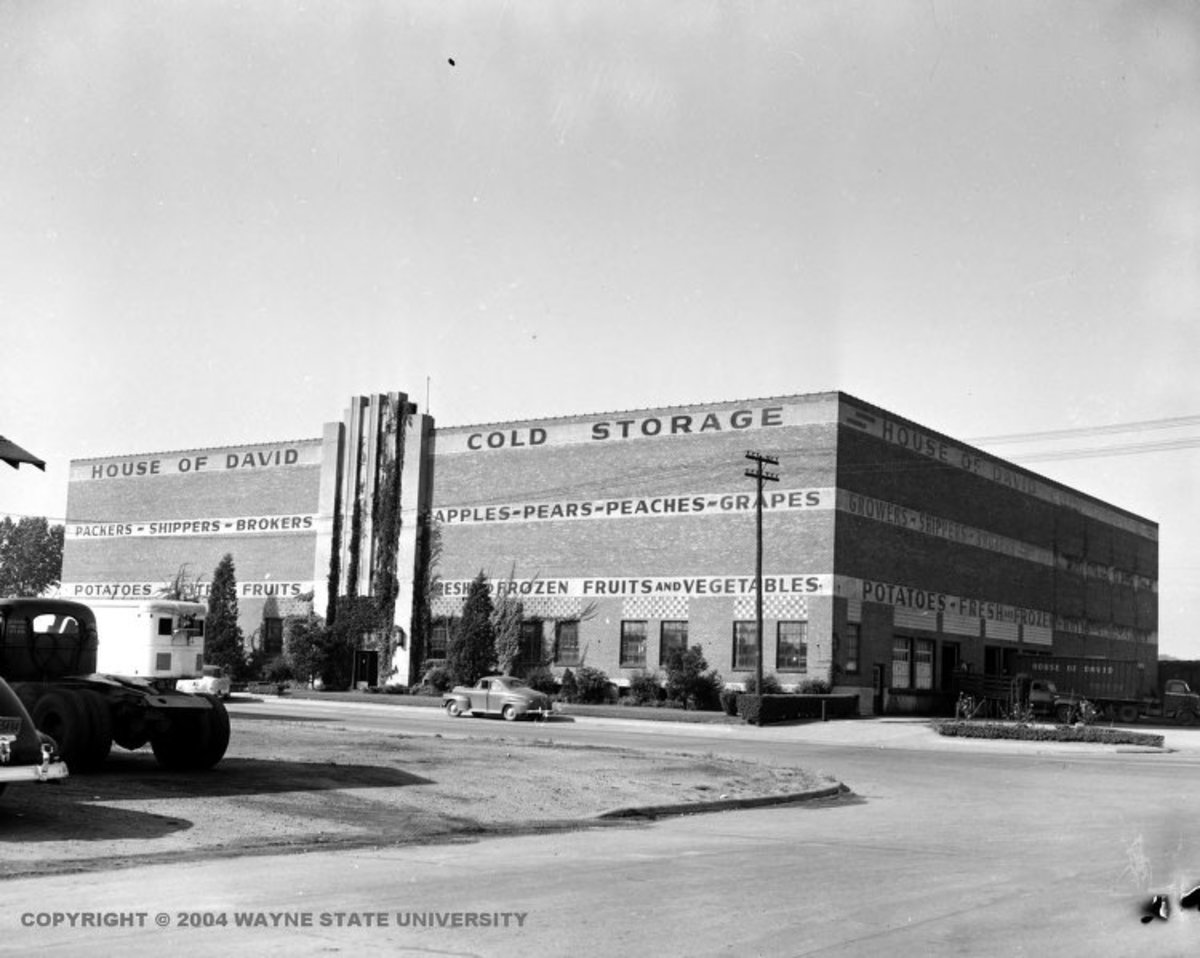 HOUSE OF DAVID COLD STORAGE WAS THE LARGEST BUILDING IN BENTON HARBOR AND ST JOSEPH