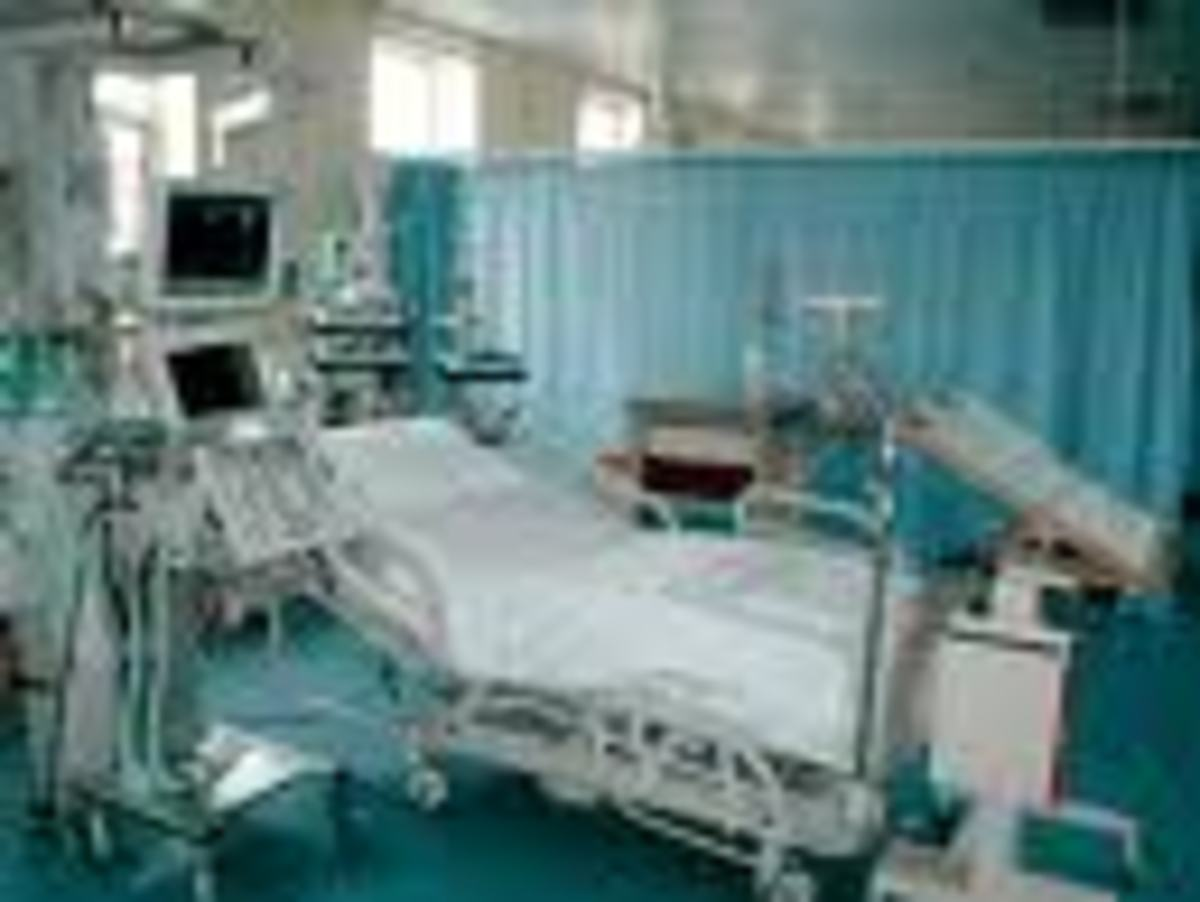 The ICU I was taken to did not have the same equipment as this one but was very similar.