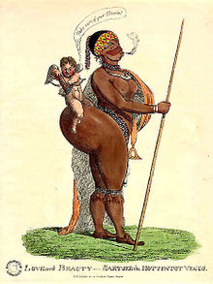 photo credit: wikipedia.com This caricature of Baartman was drawn in the early 19th century