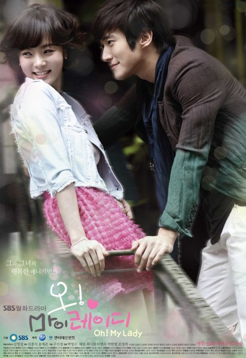 Oh My Lady promotional poster featuring lead actors Chae Rim and Choi Si Won.