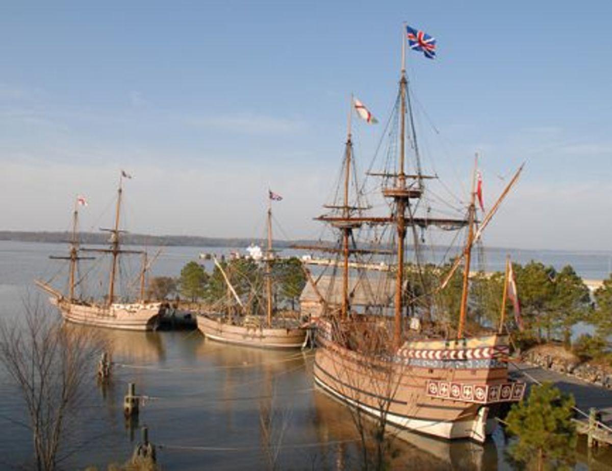 Jamestown Settlement ships (historyfun.org)