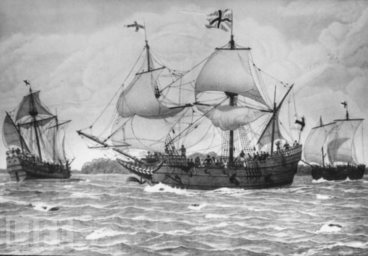 The first English settlers' ship (Google Image)