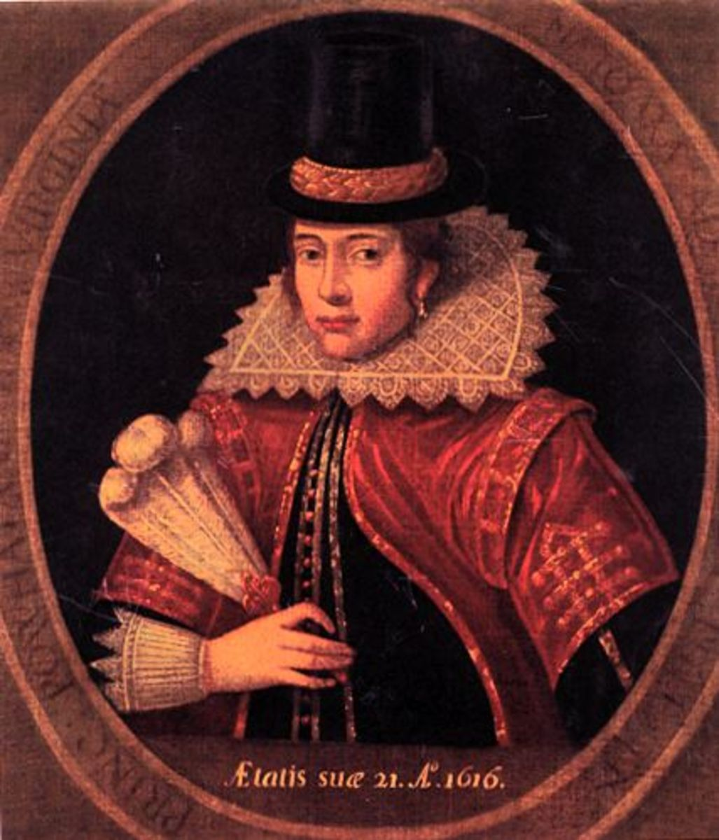 Historic portrait of the real Pocahontas in London, age 21 (pocahontas.morenus.org)