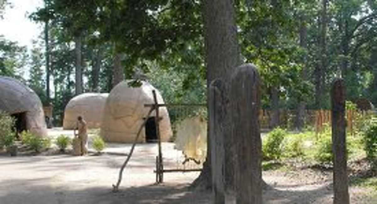 The Powhatan Village (historyfun.org)