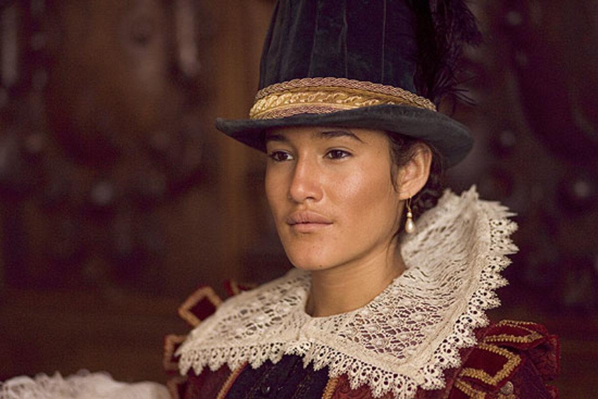 Q'Orianka Kilcher as Rebecca Rolfe/Pocahontas (Google Image)