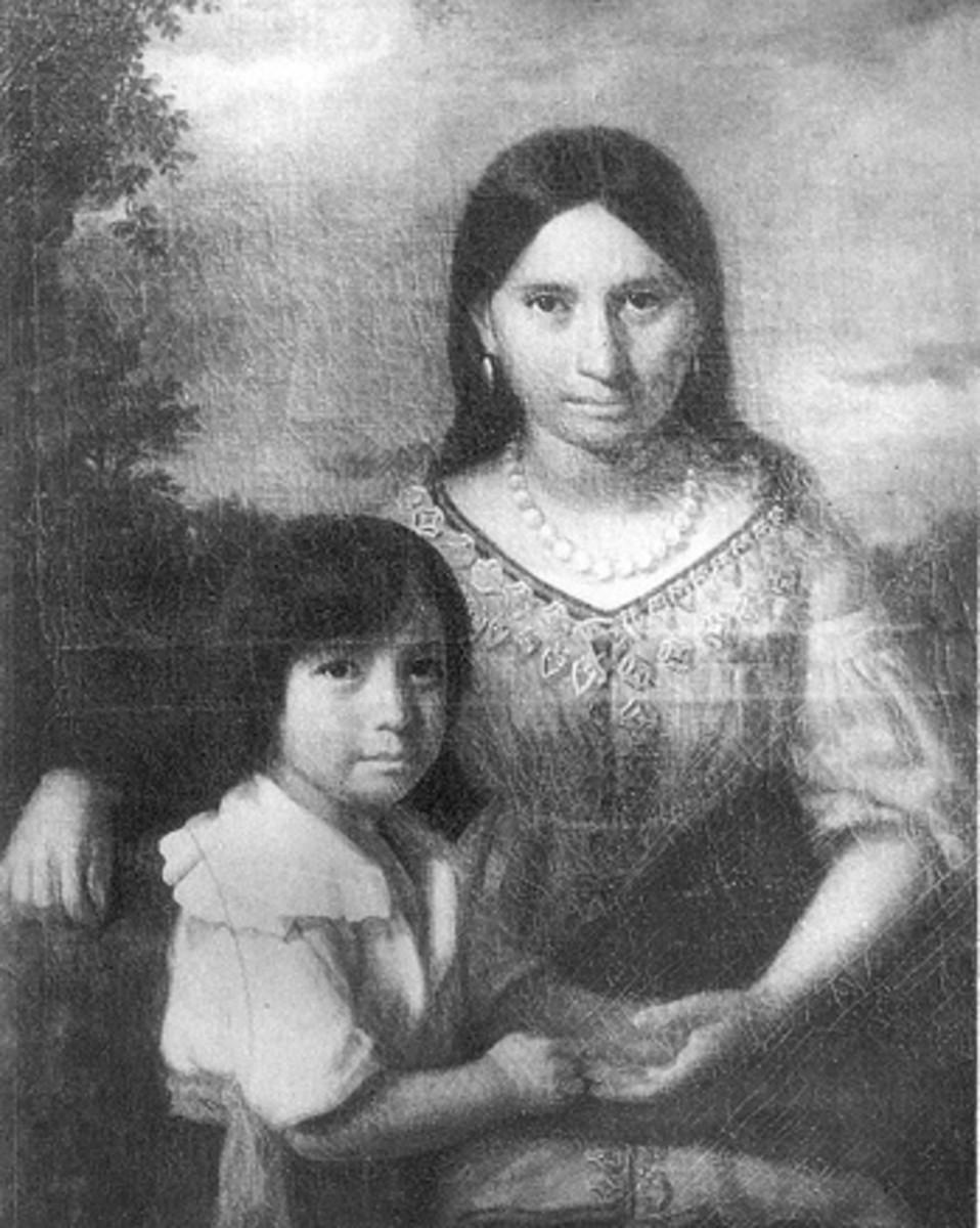 Pocahontas and her son Thomas (Google Image)