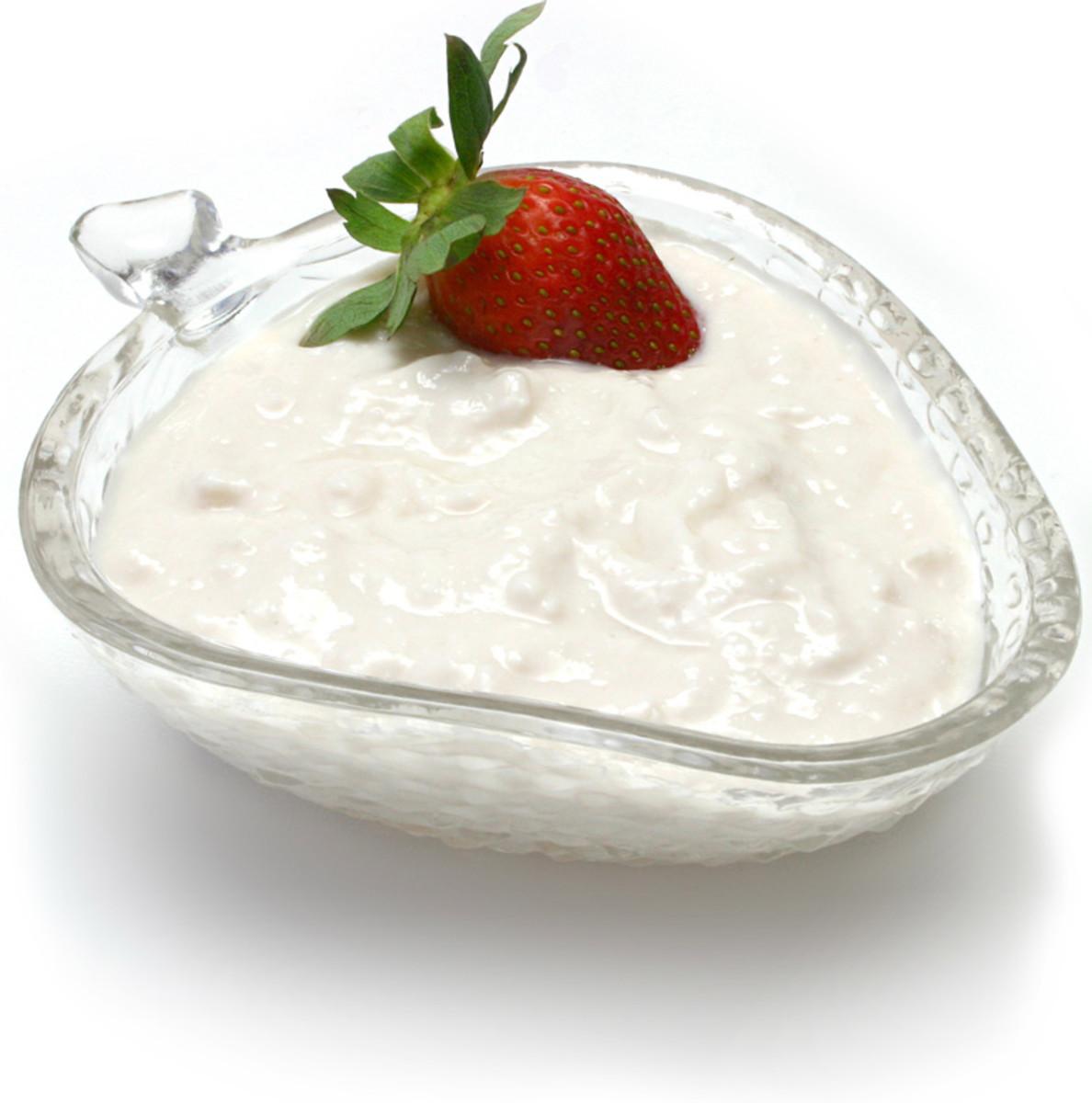 Yogurt with cherry