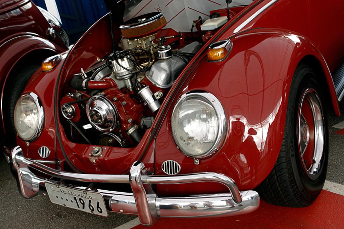 The engine of a V8 Beetle.