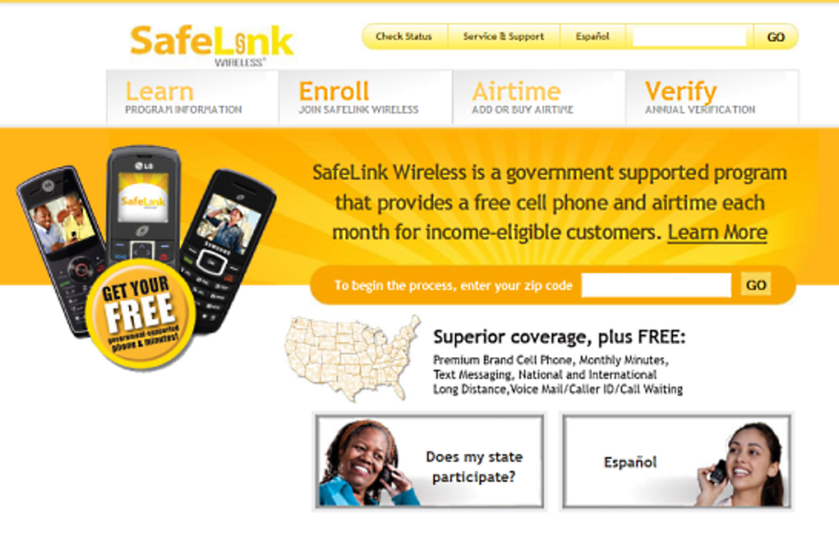 SafeLink provides free phones for low income families and free cell phone service low income families.