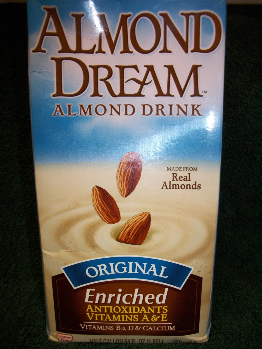 Almond Milk Substitute.  Personal Photo.