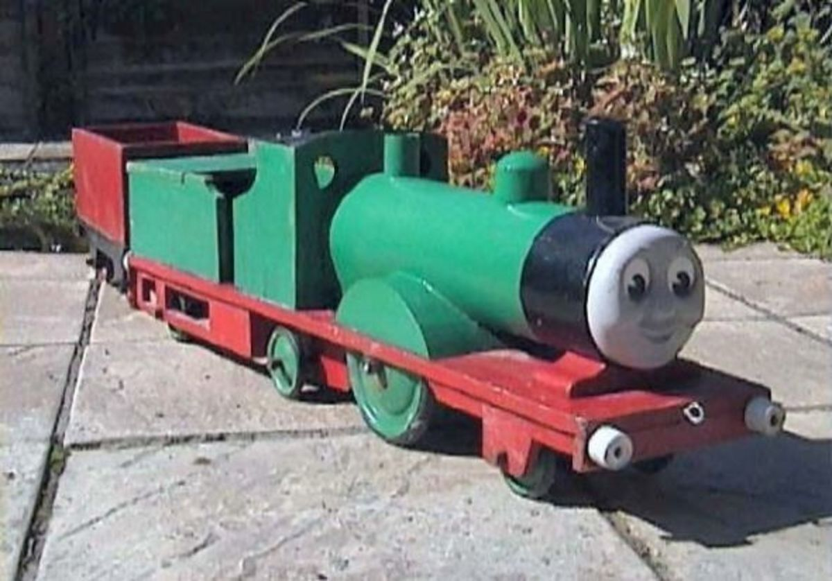 Large model of Percy from Thomas the Tank engine