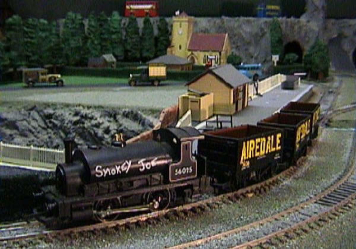 Smokey Joe Steam Train in Nathanville's Model Railway