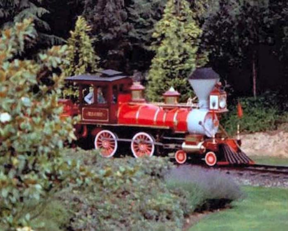 Train in theme park at Disneyland Paris