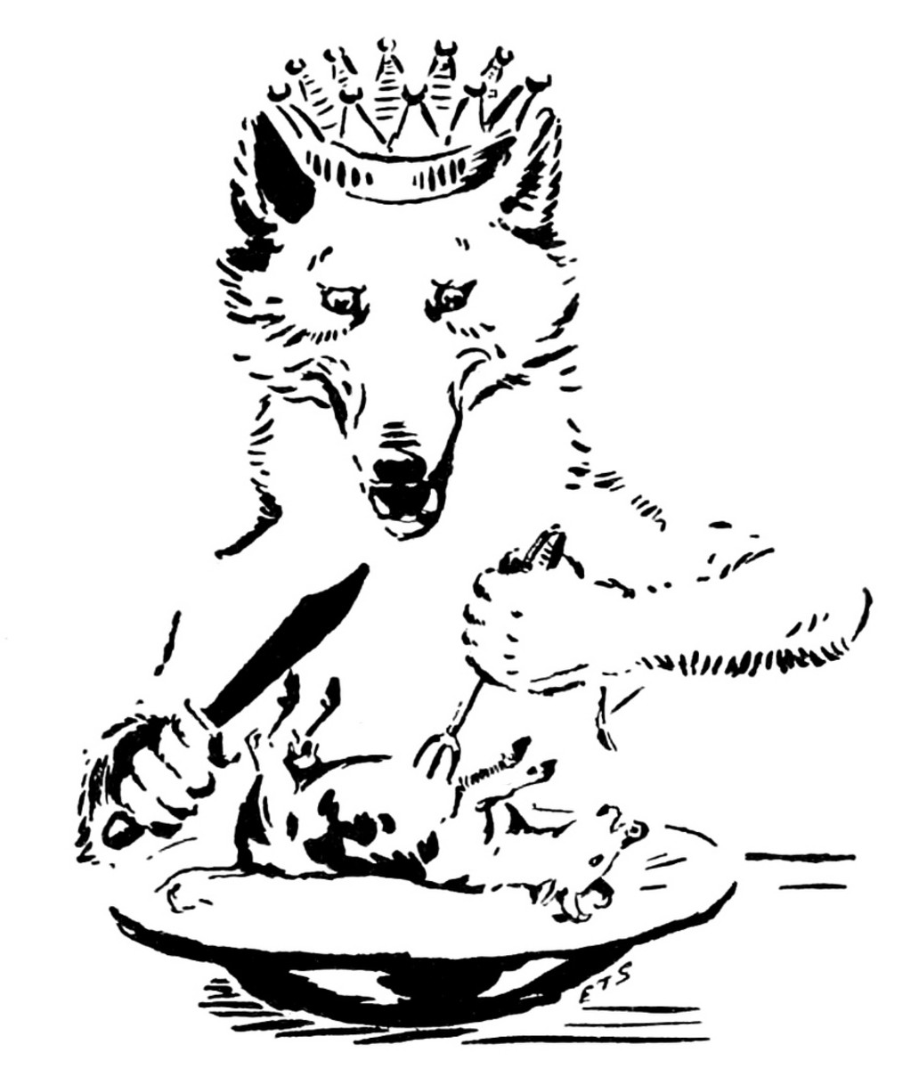What will the wolf eat for dinner?