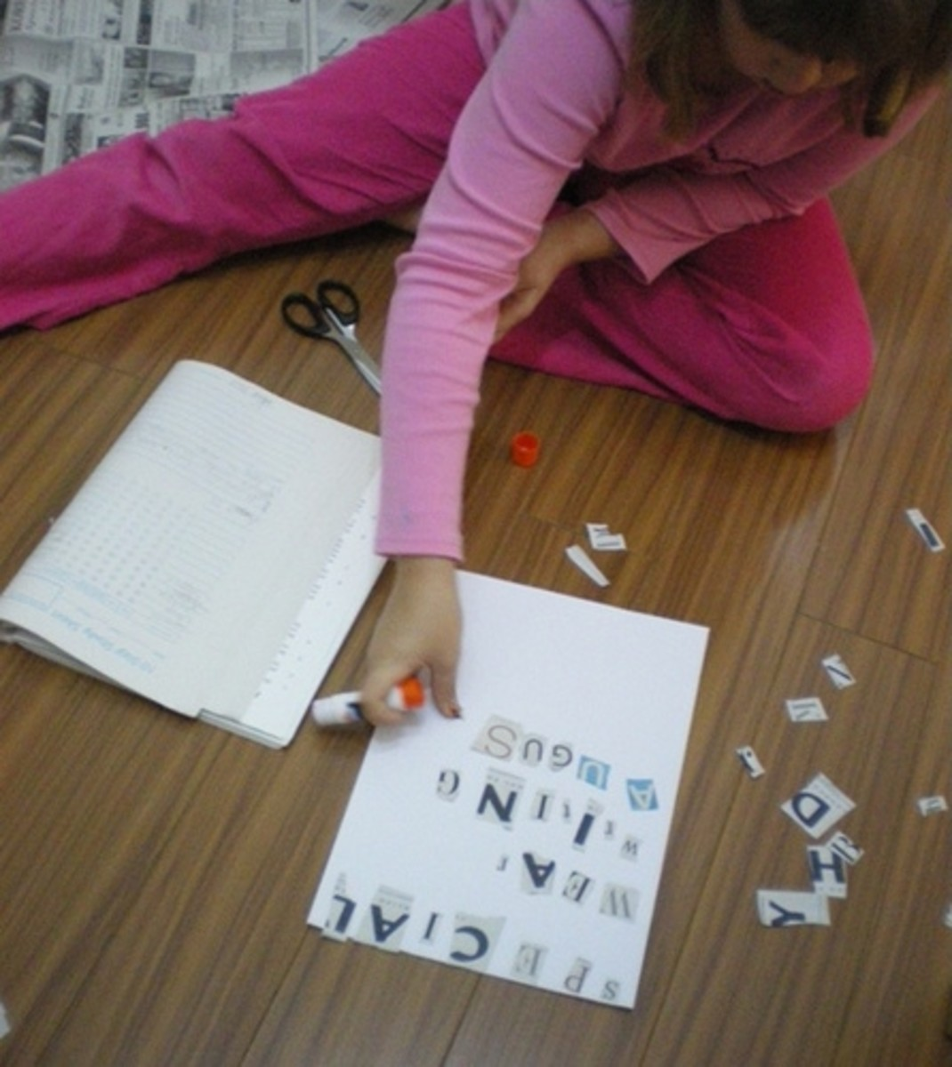 Spelling with ransom note letters
