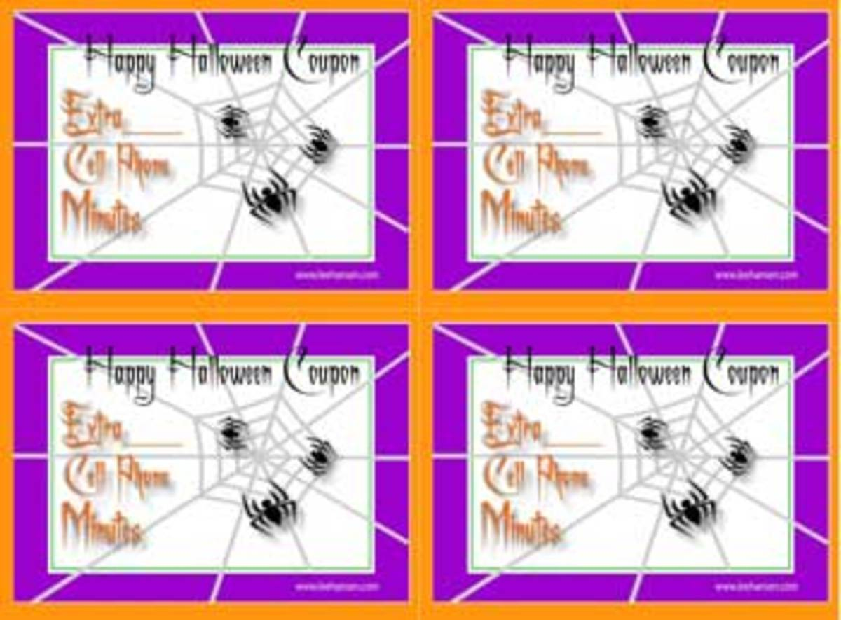 Printable Halloween Trick or Treat coupons