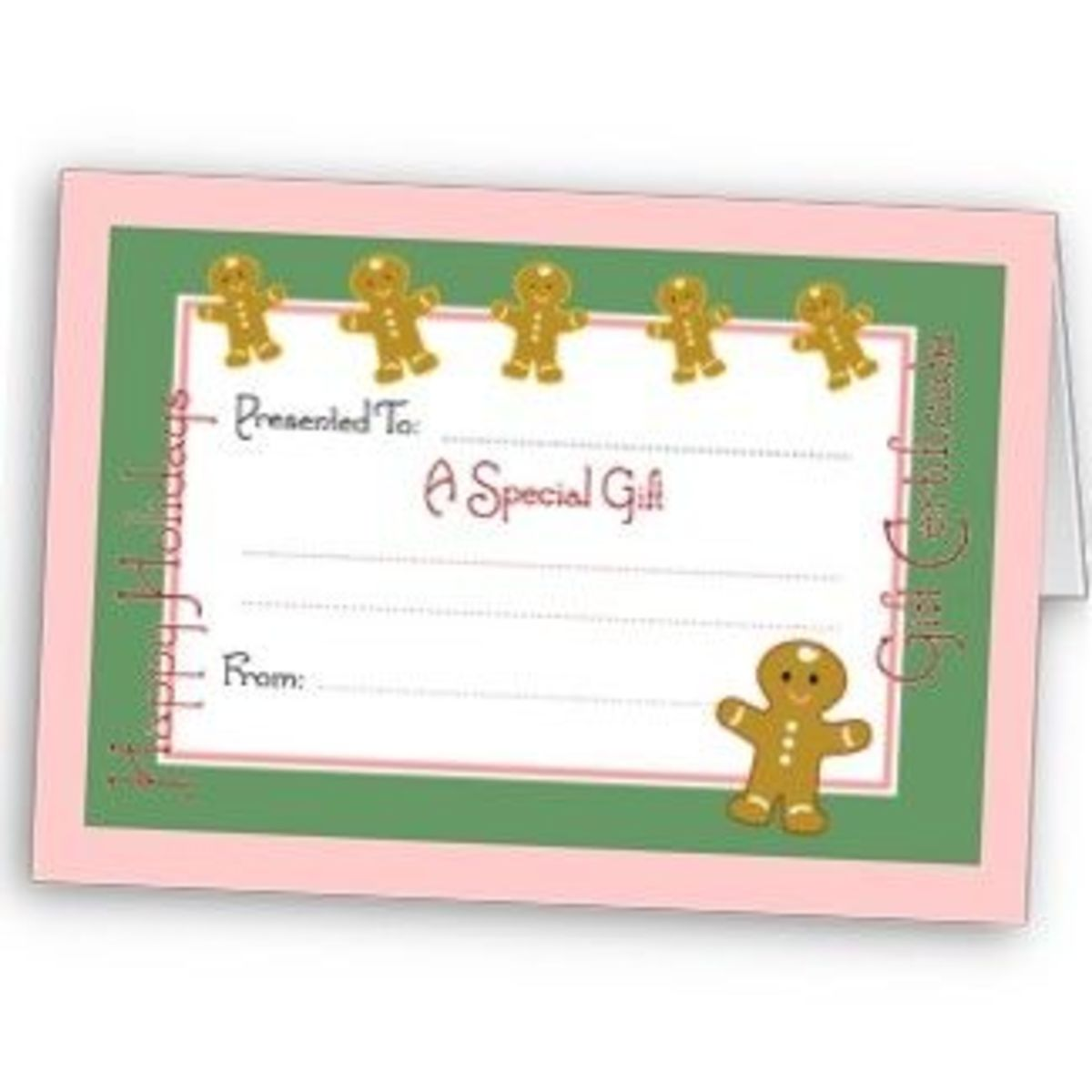 Christmas card gift certificate - personalize at Zazzle.com