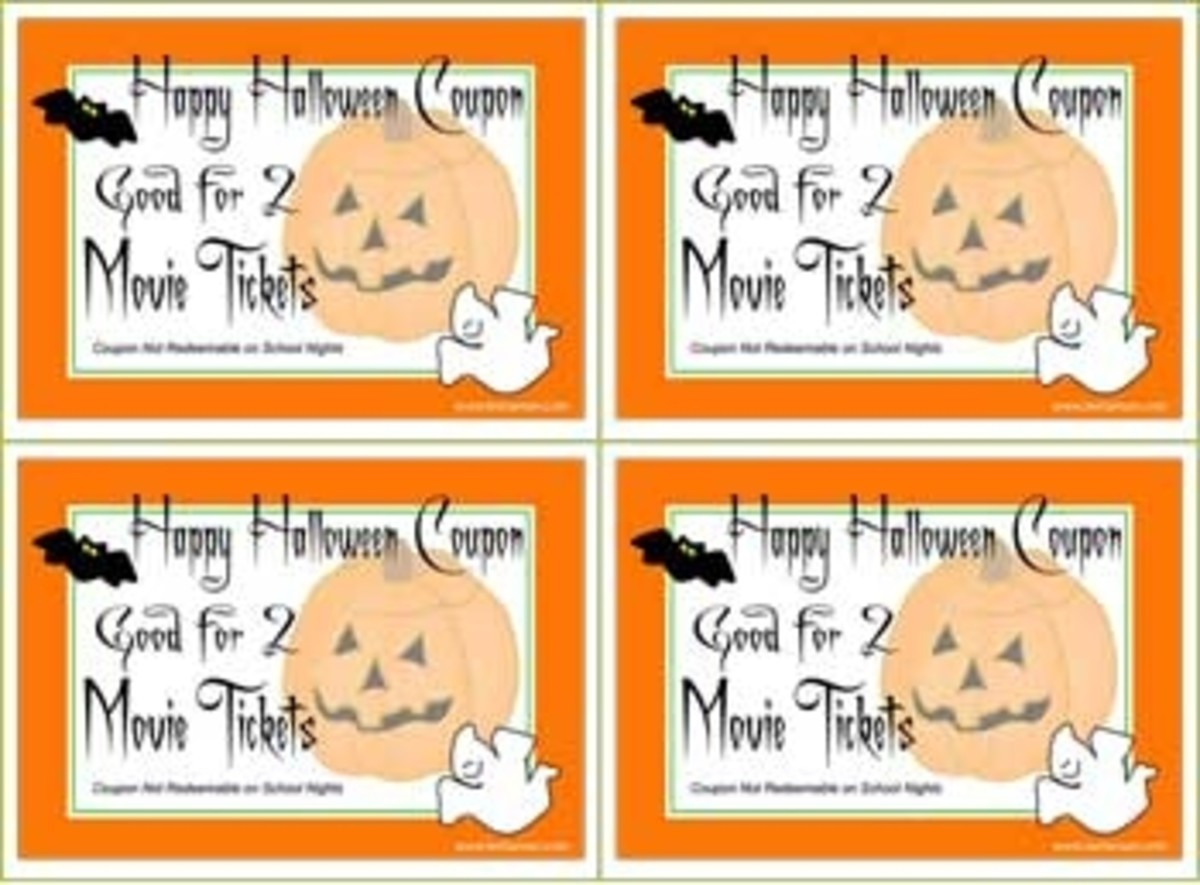 Printable Halloween Coupon for Trick or Treat