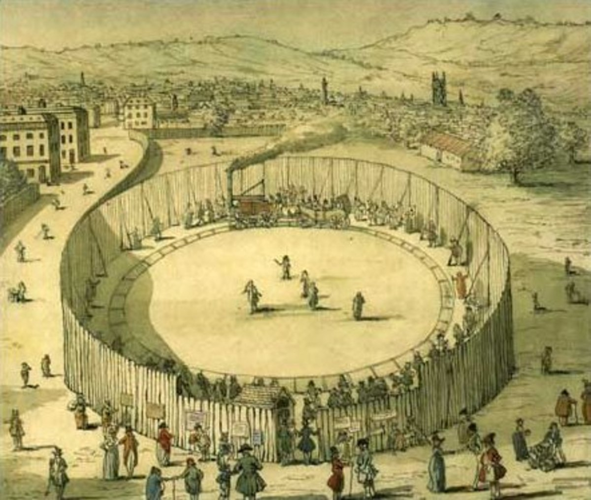 Exhibit: Trevithick's steam circus (public domain).