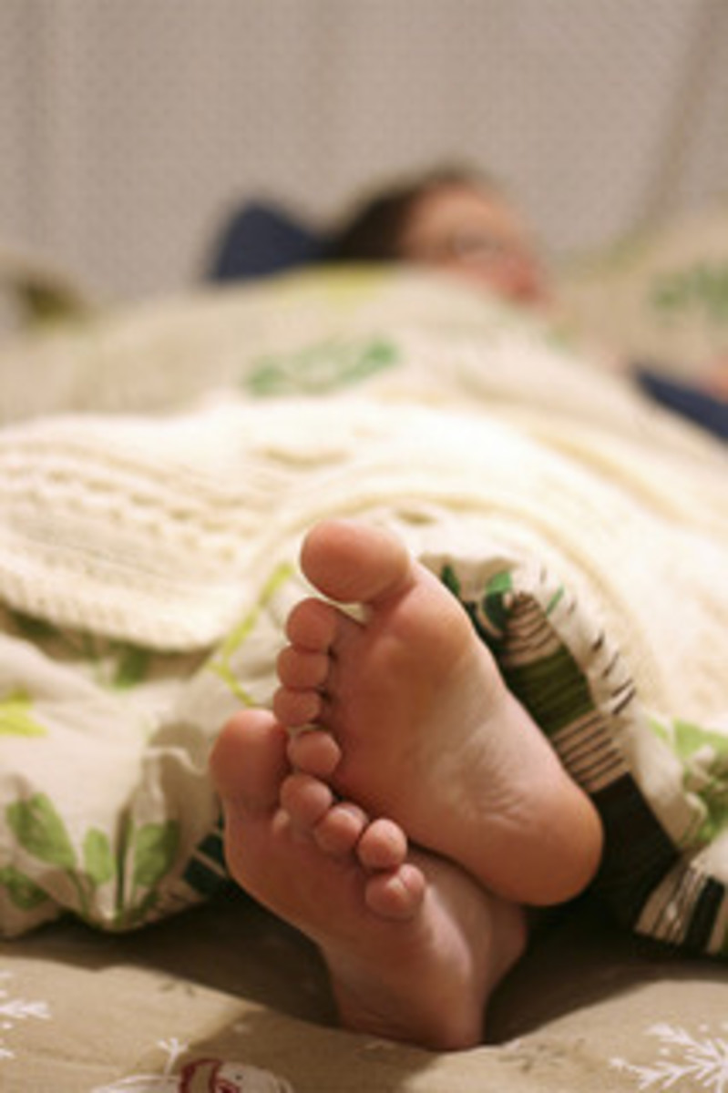Tuck a bar of soap under the sheets to help cure leg cramps and cramping feet.