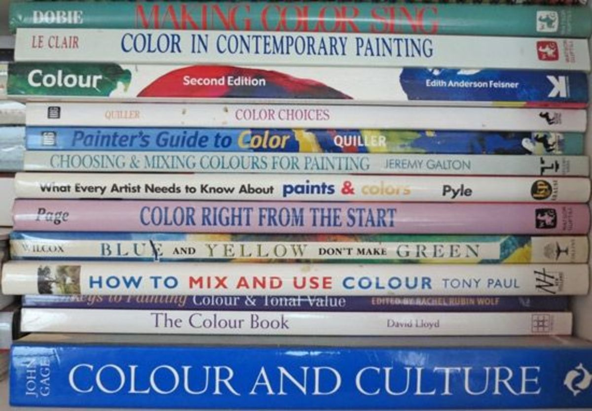 Makingamark Art Books about Colour have a major section in my art library. I've been fascinated by colour for a long time and these are just under half the books about colour that I own. See if you can pick out the ones I'm recommending.