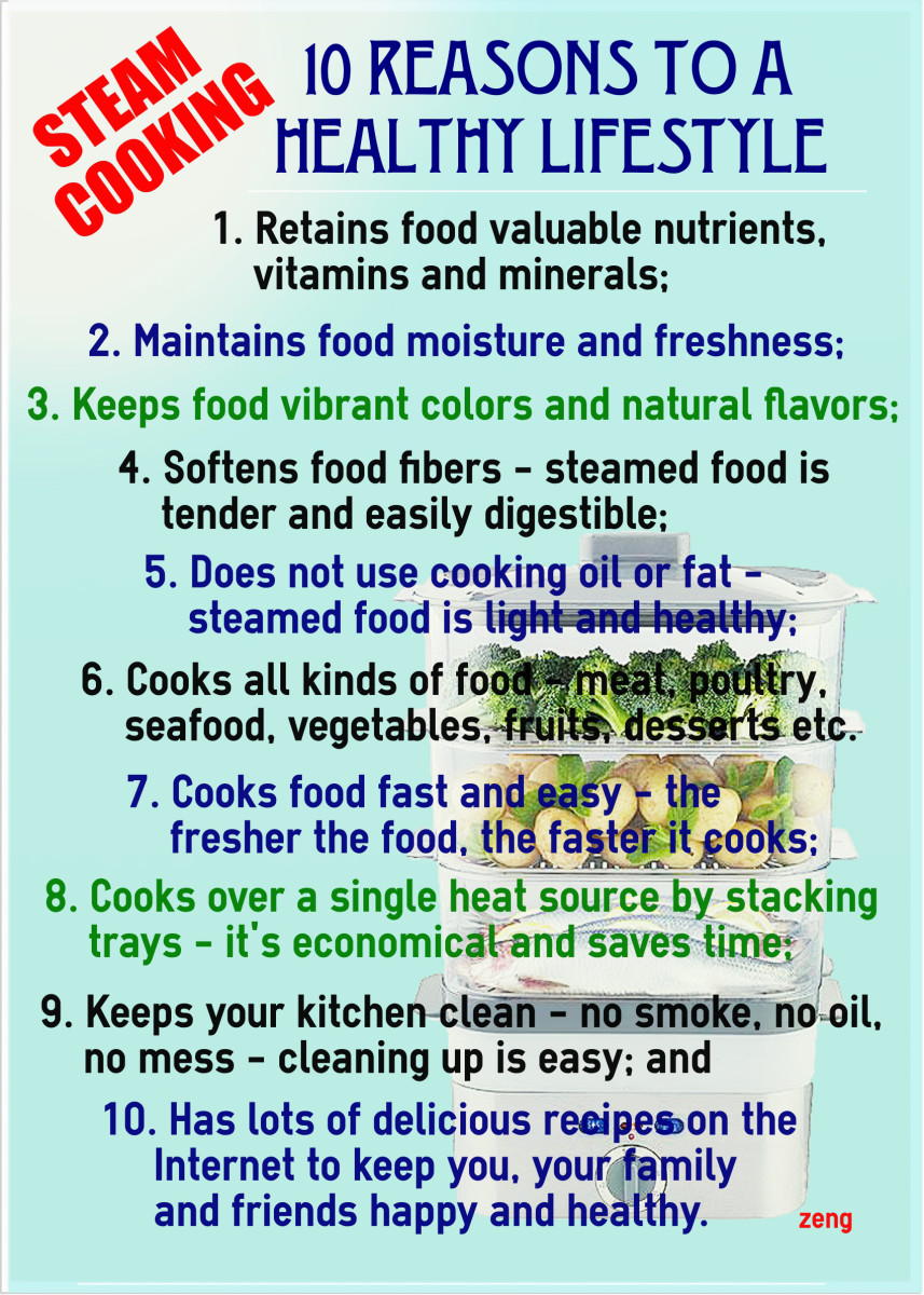Ten reasons why steam cooking is the perfect cooking method for a healthy lifestyle