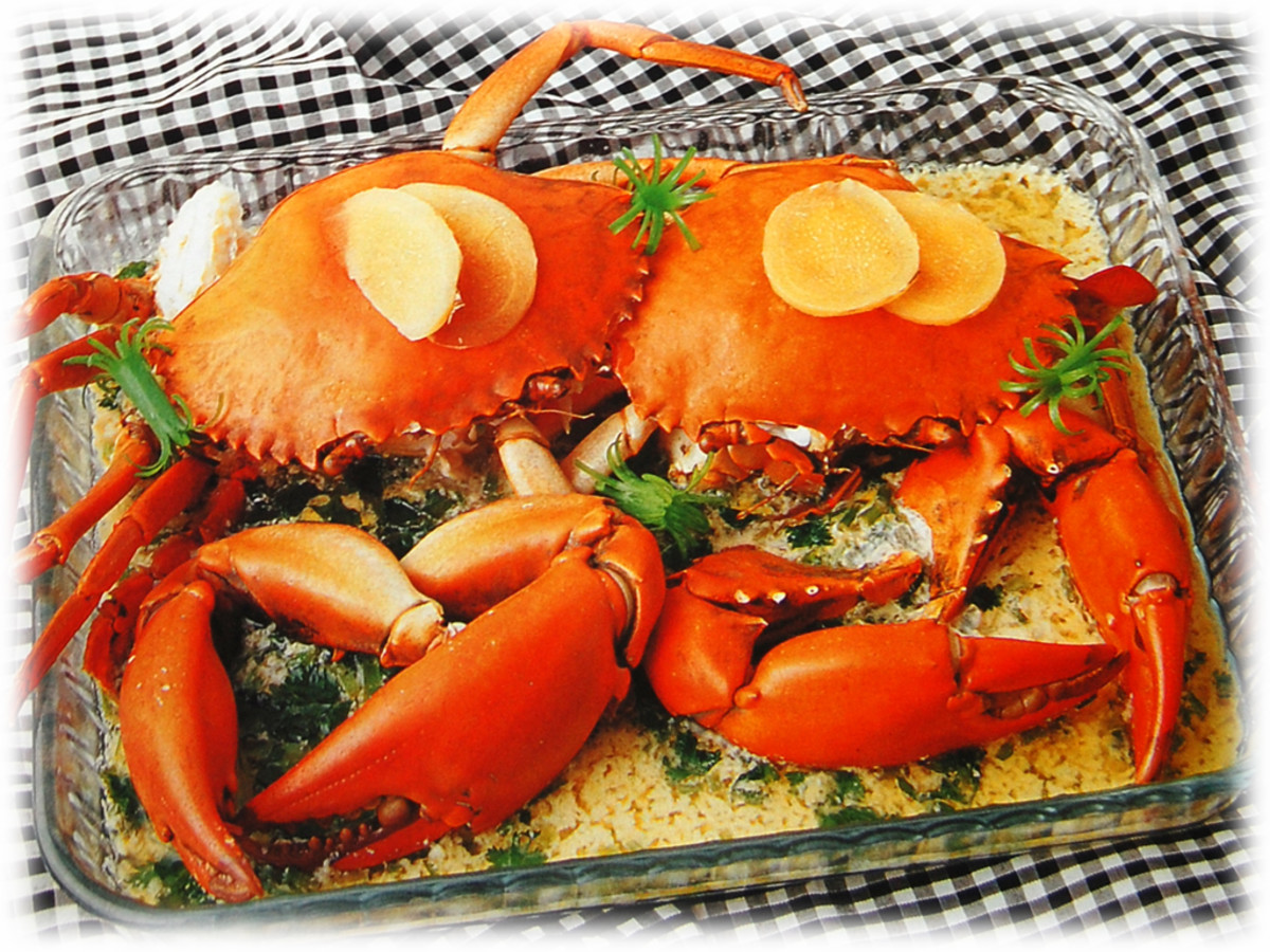 Steamed crabs with beer