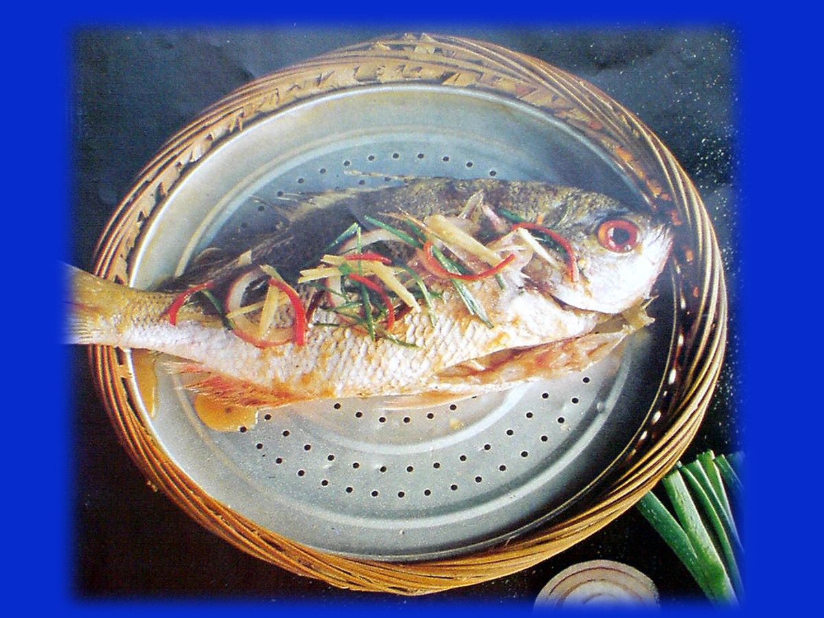 Steam cooking locks in the fish's vibrant colors and natural flavors