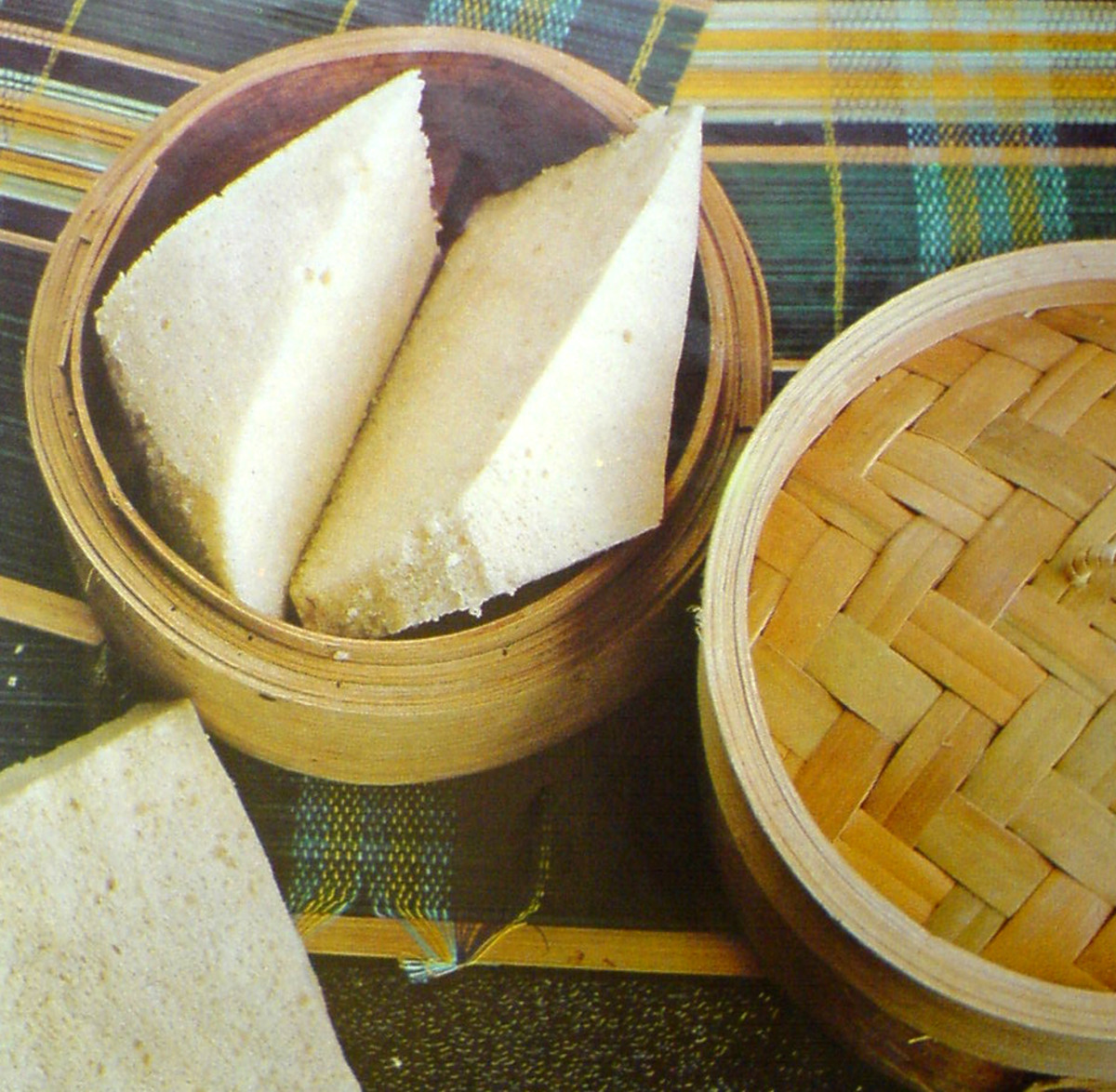 Steamed cake  or kuih is very popular in Malaysia, Singapore and Indonesia. Usually eaten as snacks.