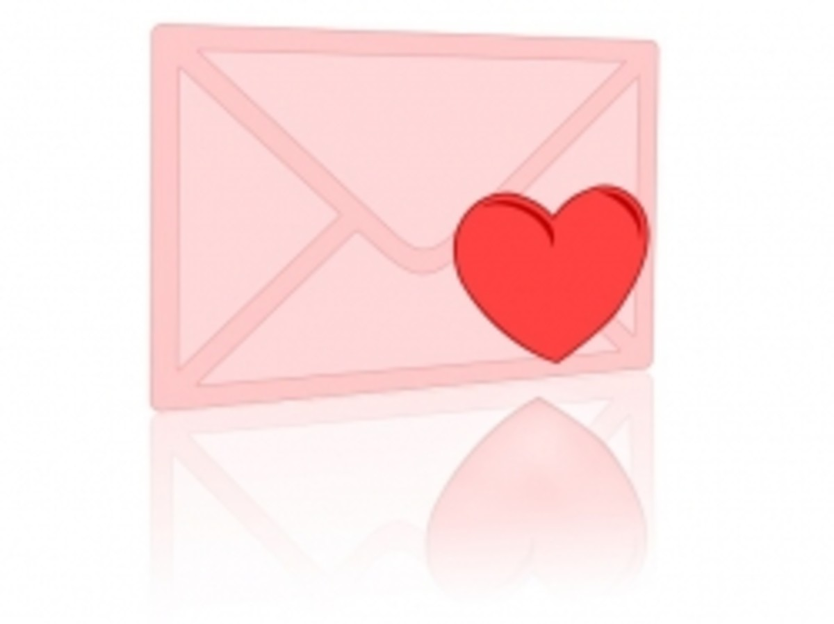Sample Love Letters - Happy Or Sad, Say It With A Letter