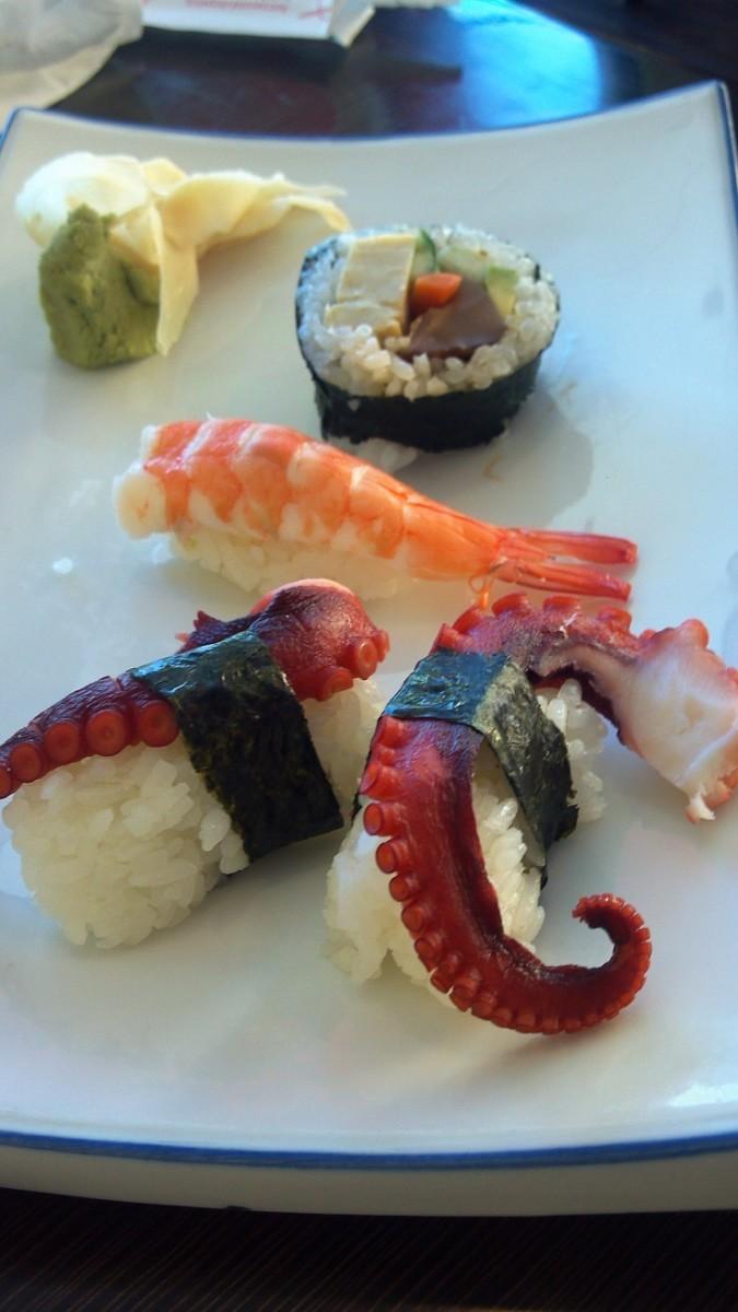 Sushi -- Yep, Sushi. Featured in many Japanese Movies -- Sometimes in Strange Ways!