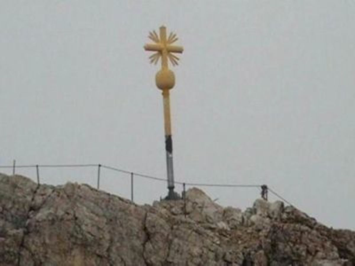 Cross on top of the Zugspitze