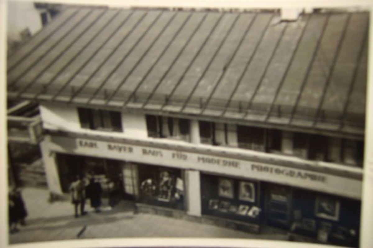 1949 camera shop where my dad worked with his photographs