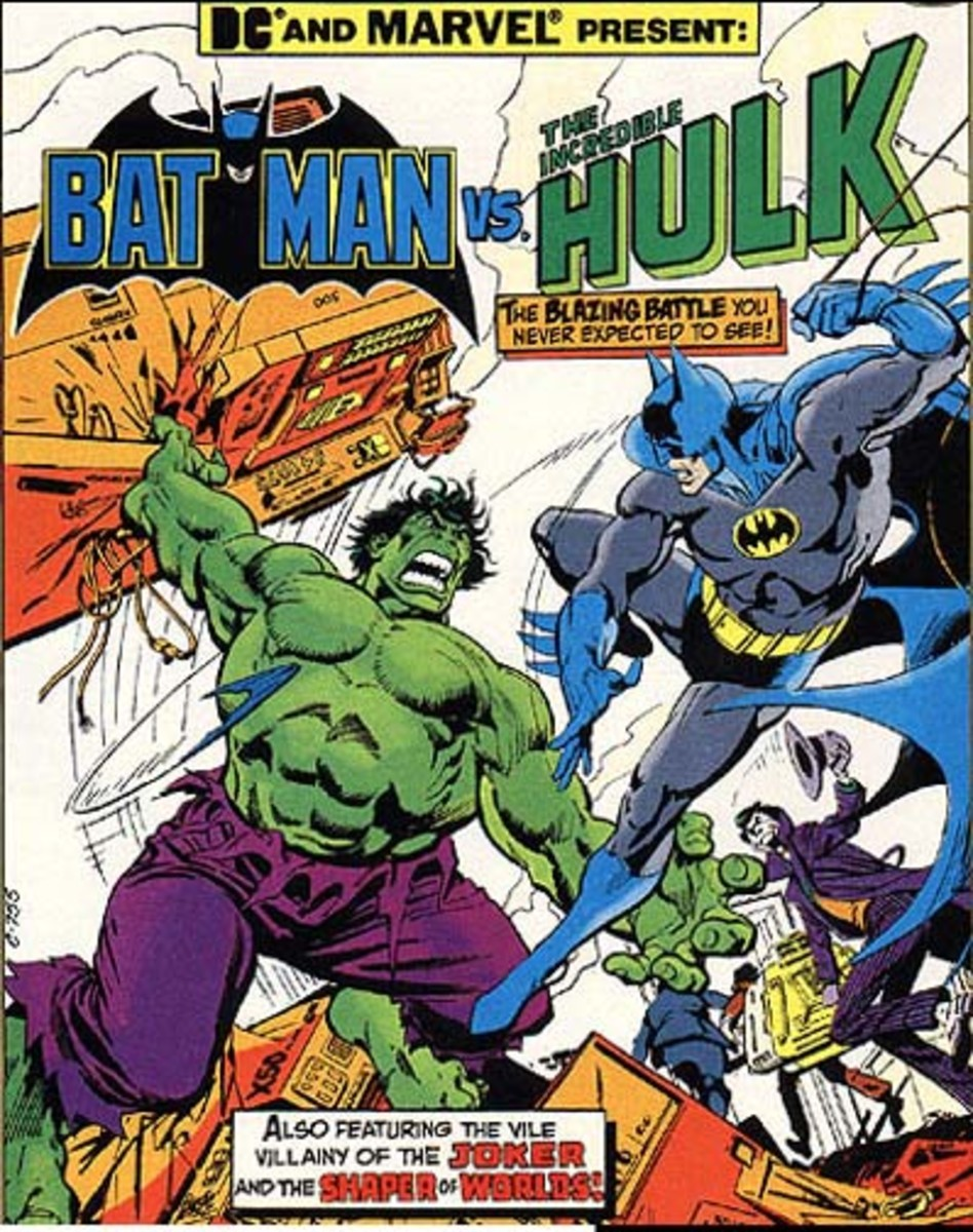 Comic book Hulk with purple pants