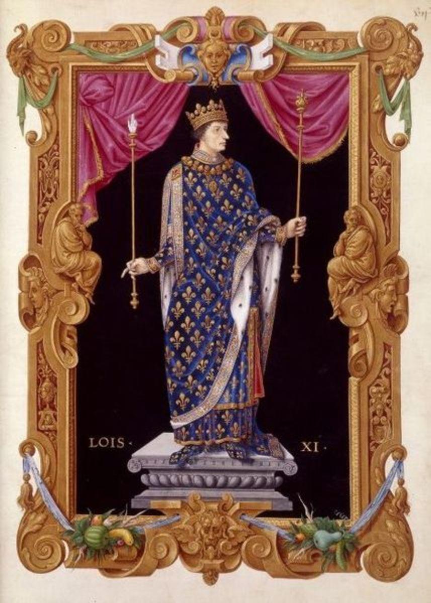 Louis XI - Fleur d'lis in art