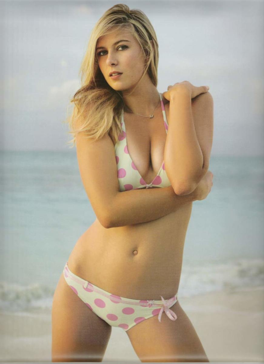 Maria Sharapova looks hot in her bikini at the Sports Illustrated Swimsuit Edition photo shoot.