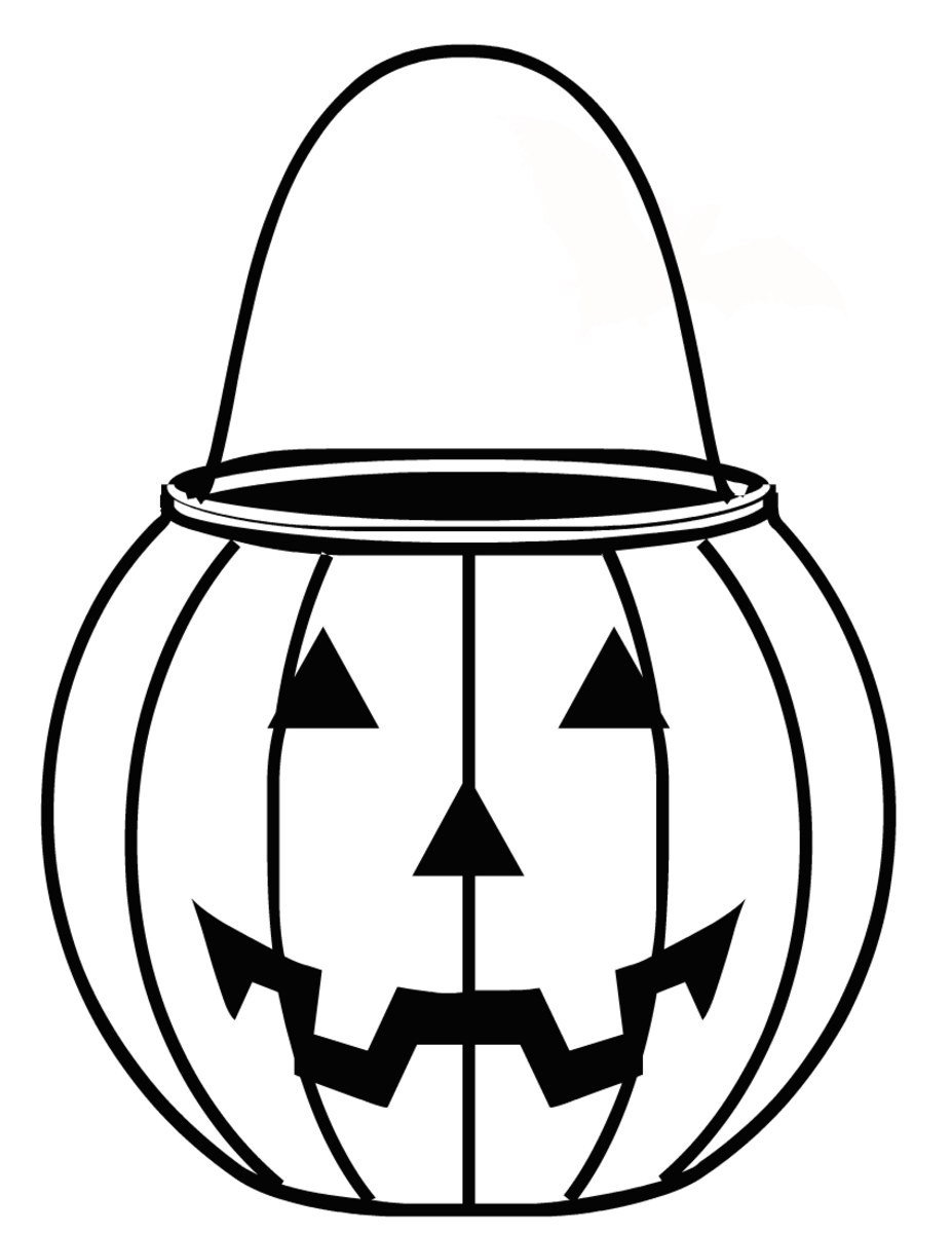 Halloween coloring pages: happy pumpkin