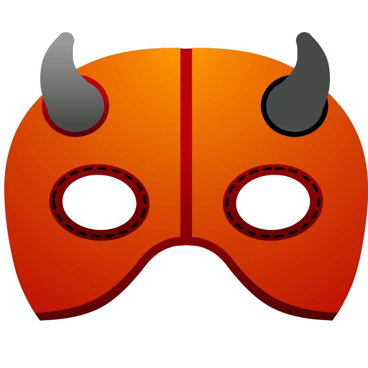 Halloween pumpkin decoration crafts for kids: devil mask