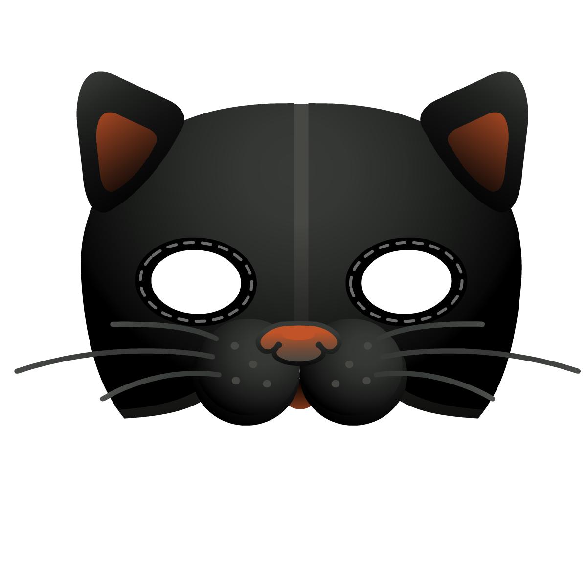 Pumpkin decoration Halloween crafts: cat mask