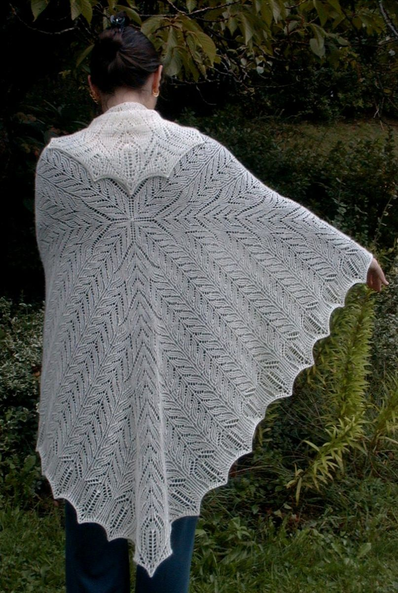 The Veil of Isis shawls, by Badcatdesigns.