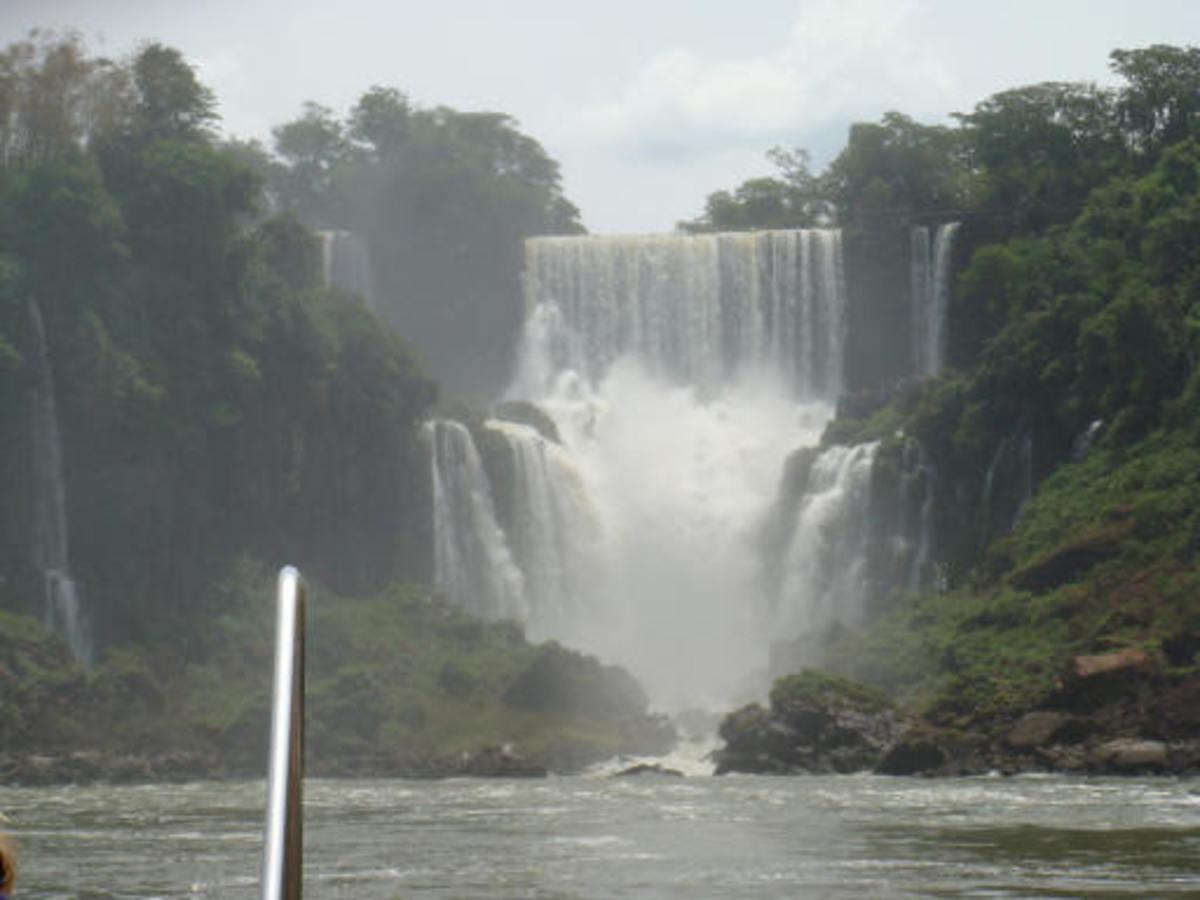 Iguazu falls, from the river