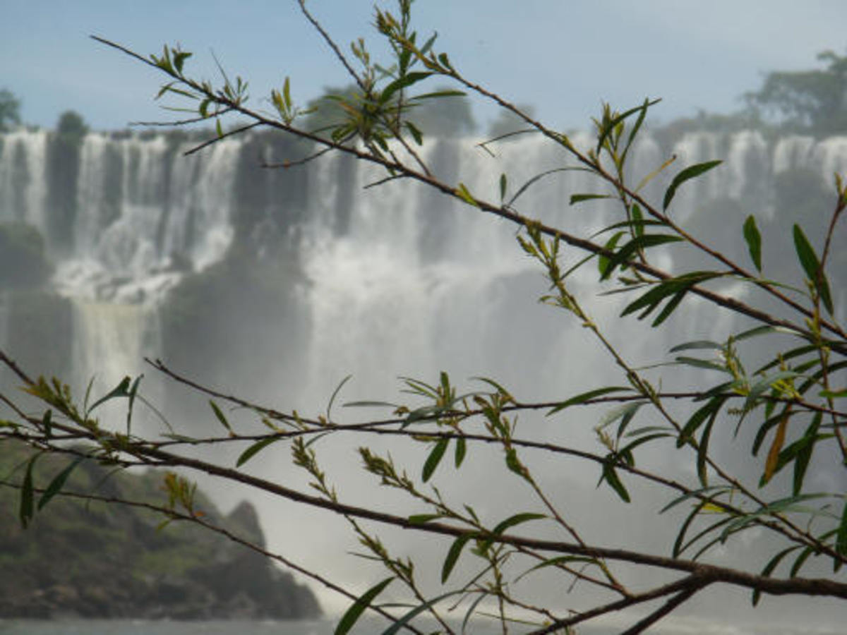 Iguazu falls, close up from the Argentinean side