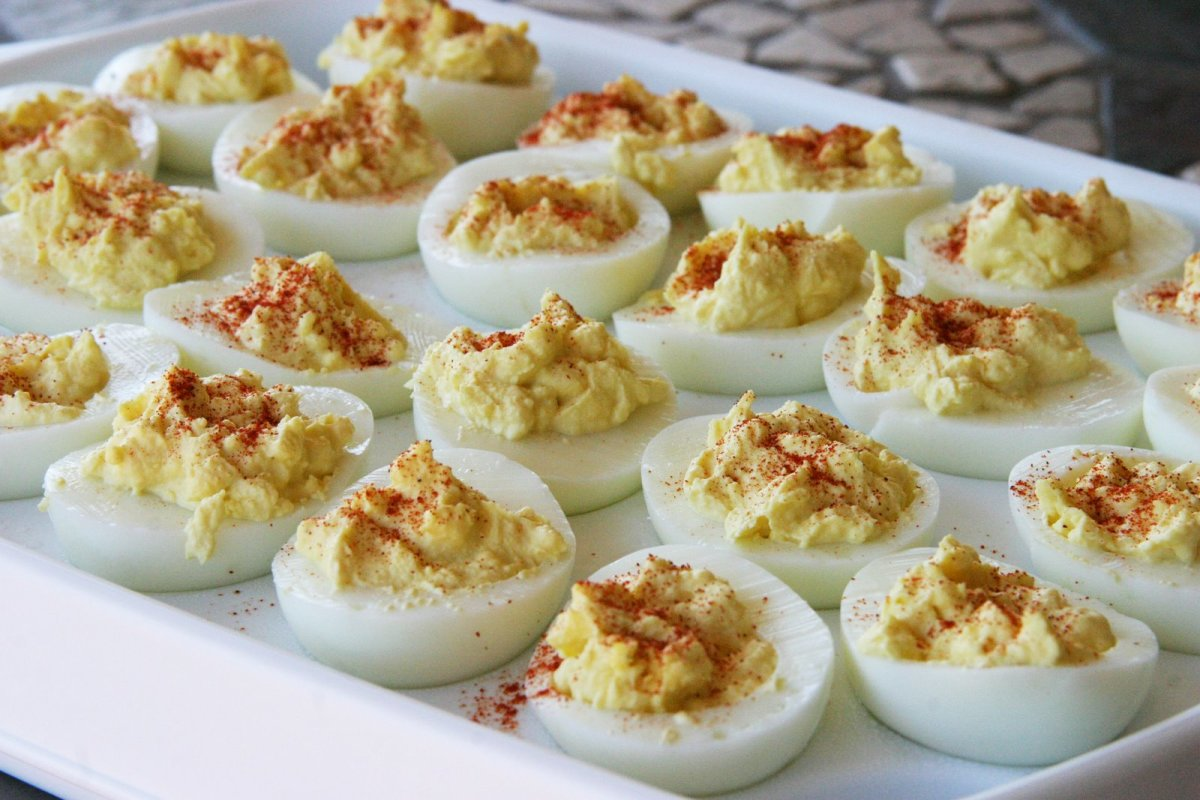 Deviled eggs are a quick and tasty party treat