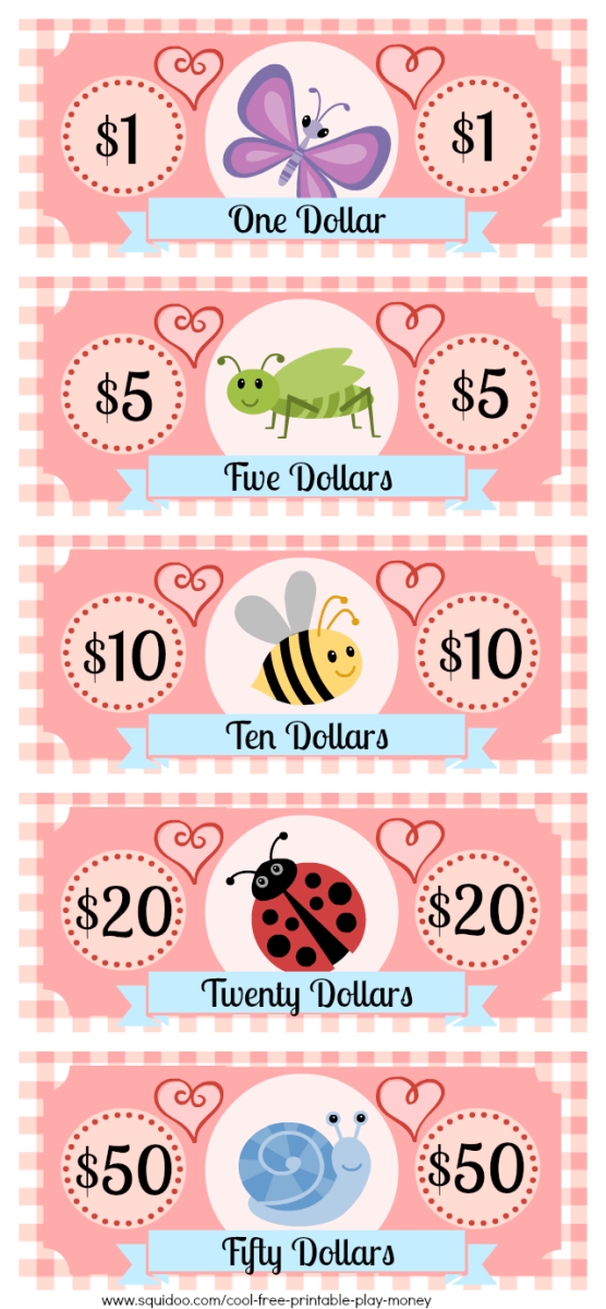 This is an image of Genius Printable Play Money Sheets