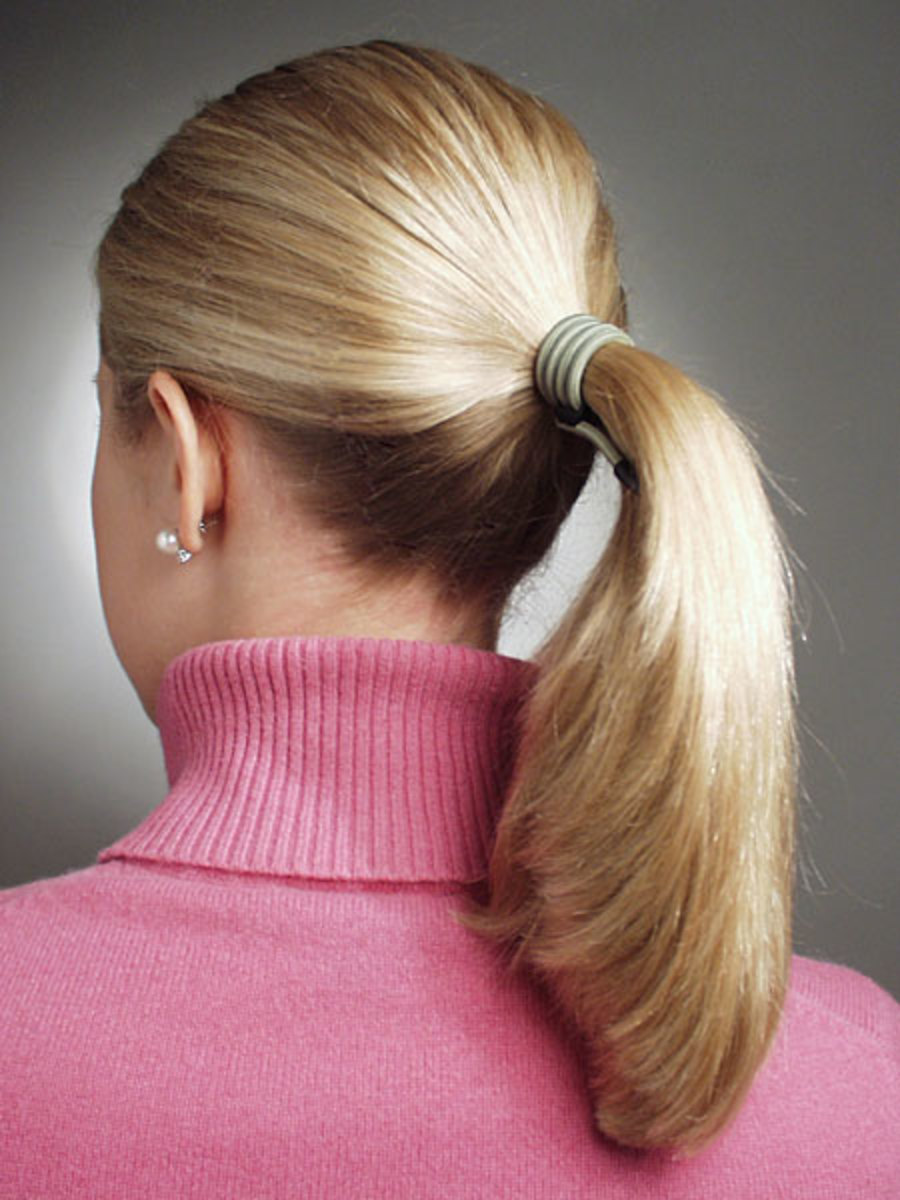 simple ponytails for women